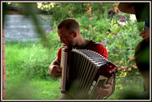 Accordion player in Somerset
